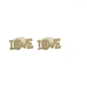"""Oorbel """"Love"""" goud"""