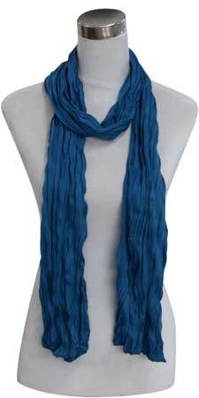 Kleine Jersey-Stof Sjaal - Speciaal blauw (Smal - S)