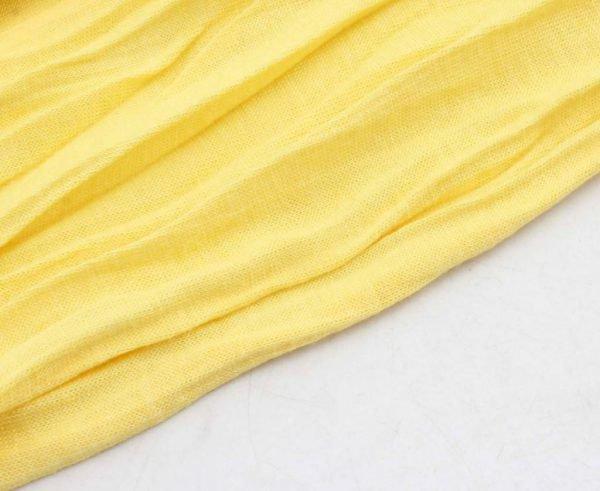 """Sjaal """"Uni Jersey S"""" geel - Indini"""