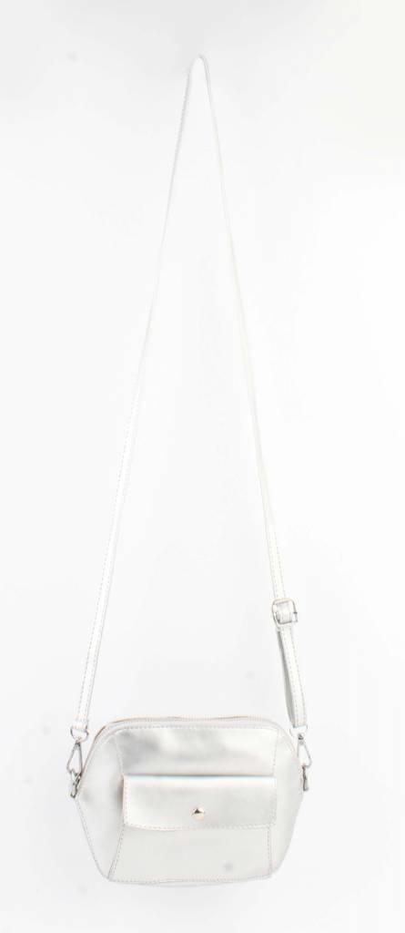 Crossbody - Met Front Pocket Vak - Zilver -