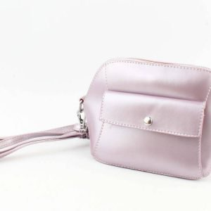 Crossbody - Met Front Pocket Vak - Lila