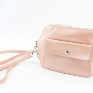 Crossbody - Met Front Pocket Vak - Peach