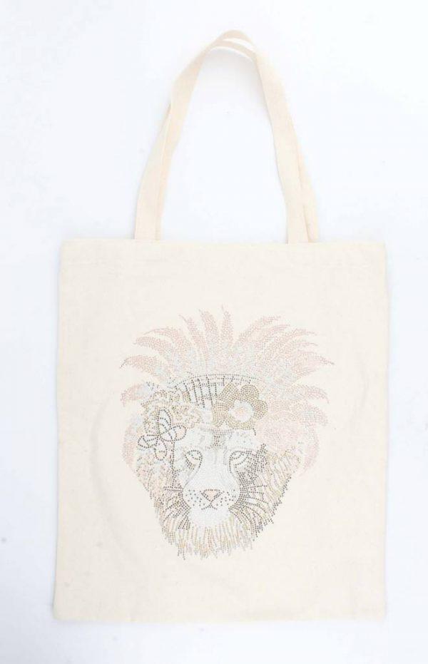 """Shopper """"Lion King"""" creme wit"""