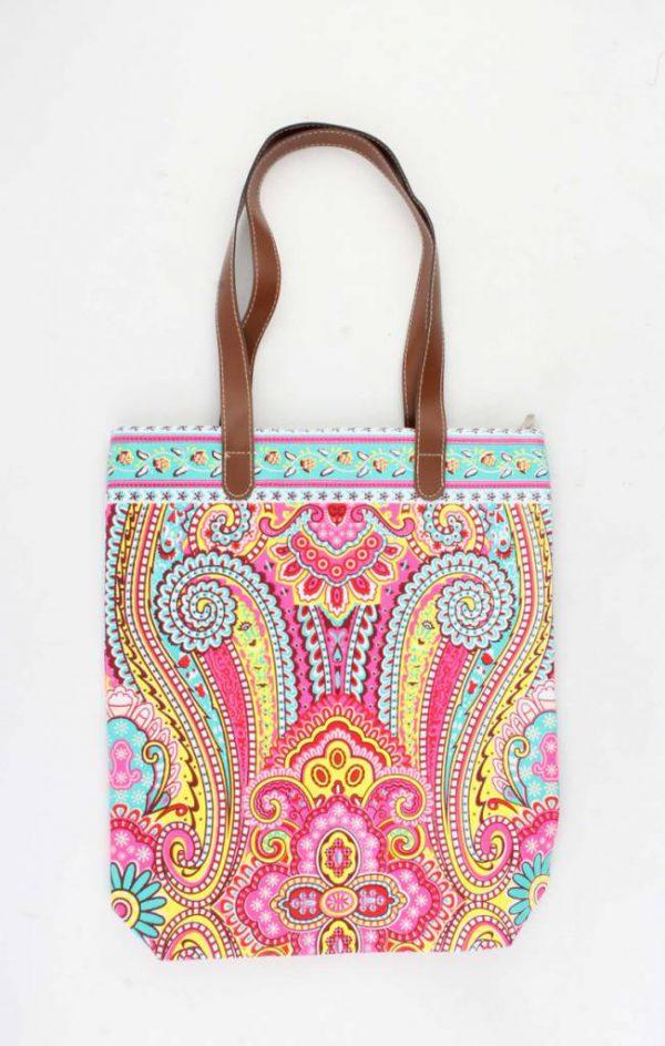 "Shopper ""Machangulo"" roze/turquoise"