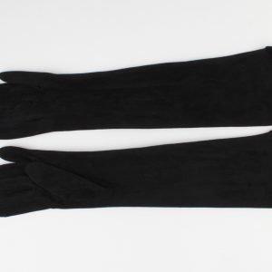"""Handschoen """"Cyprille"""" zwart lang"""