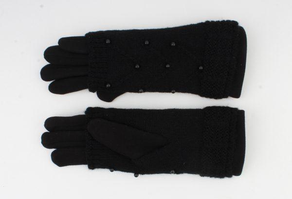 """Handschoen """"Clover"""" zwart"""