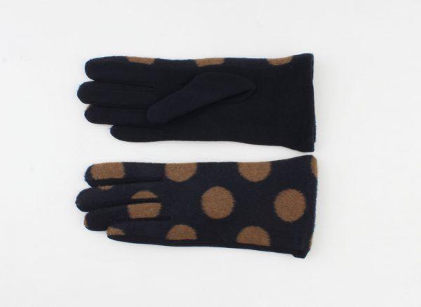 """Handschoen """"Livia"""" blauw/camel"""