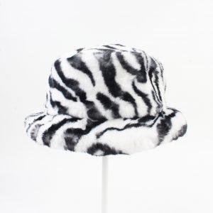 """Bonte hoed """"Merin"""" zwart/wit"""