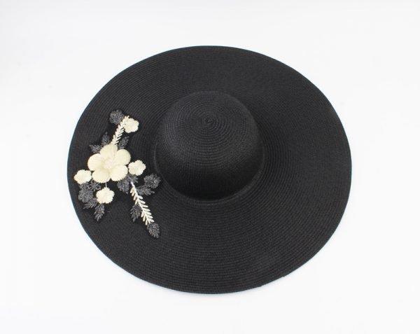 """Flap hoed """"Frederica"""" zwart"""