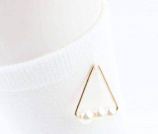 "Sokken ""Triangle parels"" wit -"