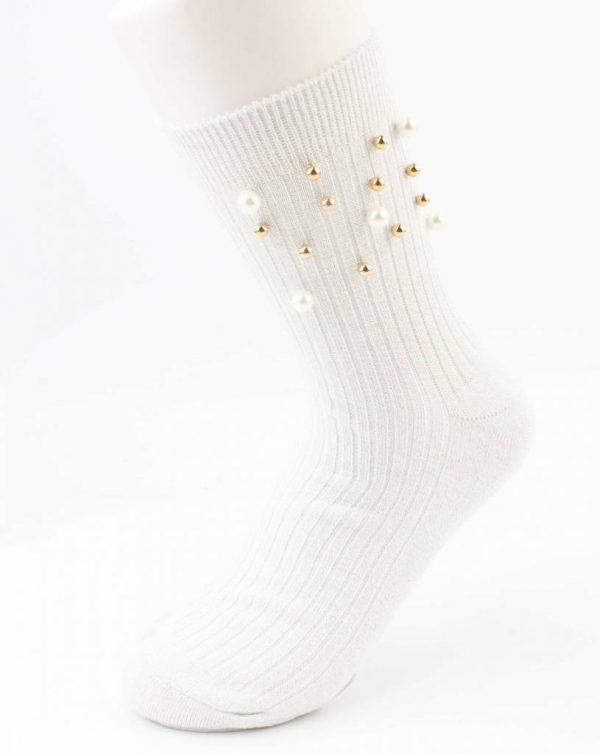 """Sokken """"Sporty parel"""" wit per 2 paar"""