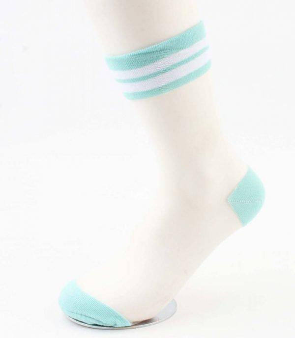 "Sokken ""Mesh & Stripes"" mint groen"