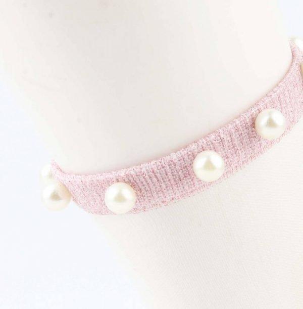 "Sokken ""Mesh & Pearls"" roze, per 2 paar -"