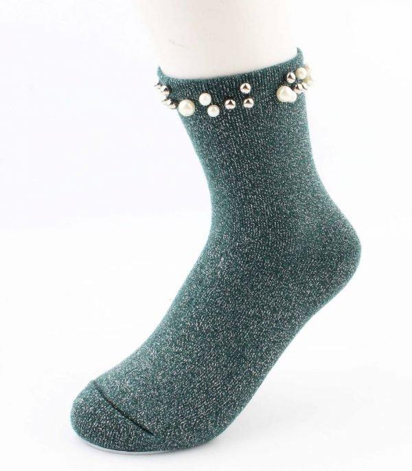 "Sokken ""Madeleine"" groen"