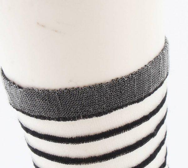 """Sokken """"Amalia"""" zwart/wit, per 2 paar -"""