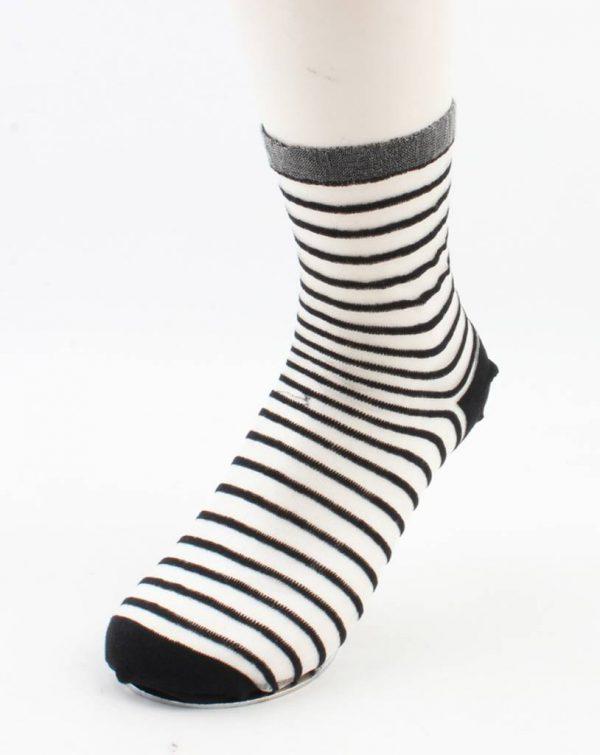 "Sokken ""Amalia"" zwart/wit"