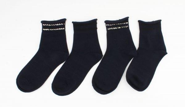 "Sokken ""Vicha"" donker blauw, per 2 paar -"