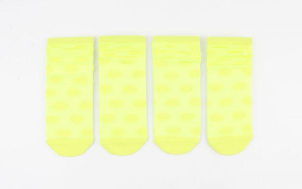 "Sokken ""Caroline"" geel, per 2 paar -"