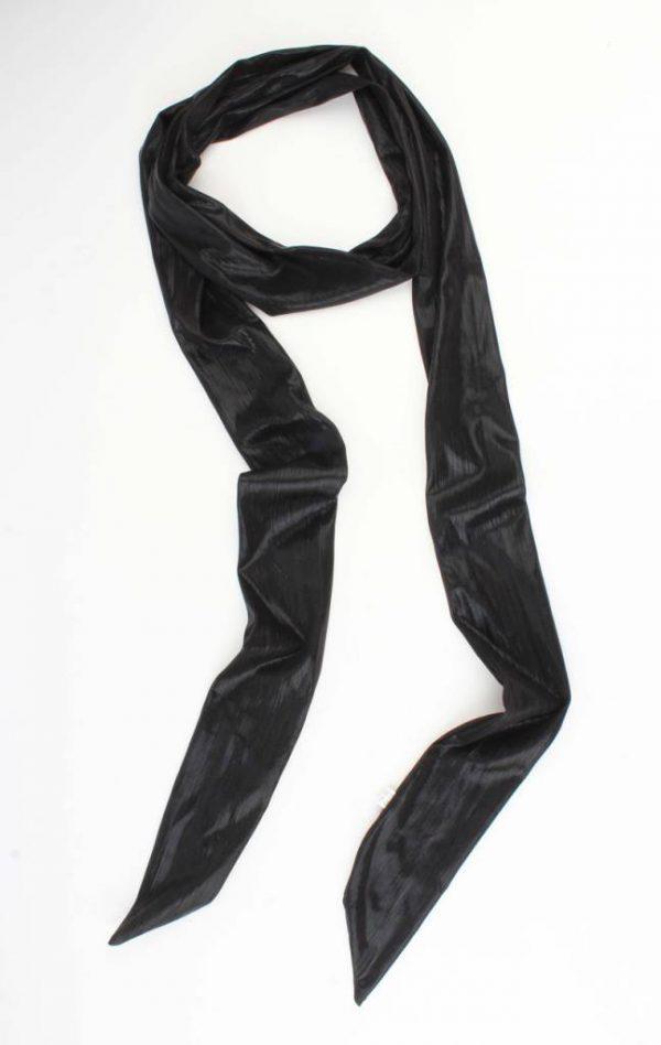 "Skinny sjaal ""Uni stropdas"" zwart"
