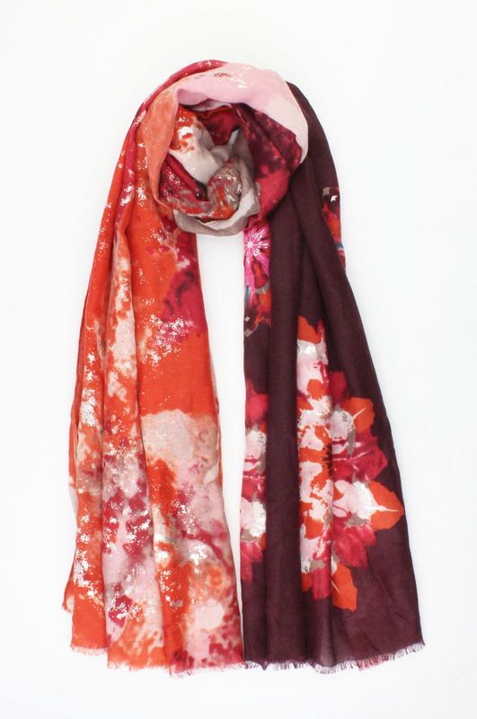 "Sjaal ""African Opal"" zinfandel rood"