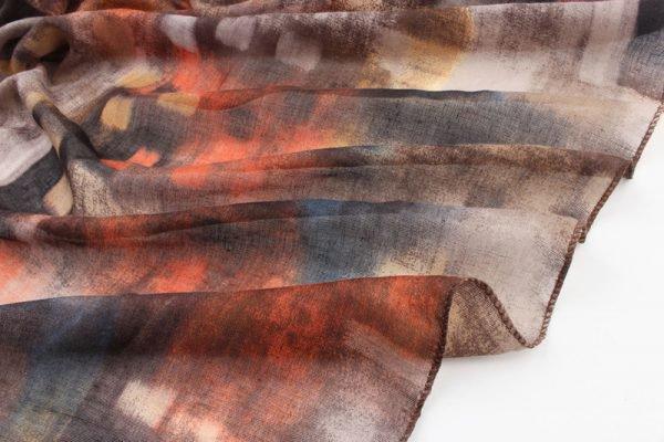 """Sjaal """"Dyed Stripe"""" bruin -"""