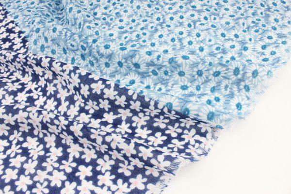 "Sjaal ""Marcelina"" jeans blauw - Indini"