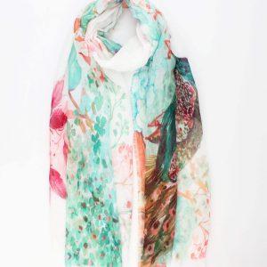 "Sjaal ""Feline"" multi kleur"