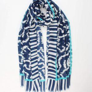 """Sjaal """"Marian"""" blauw"""