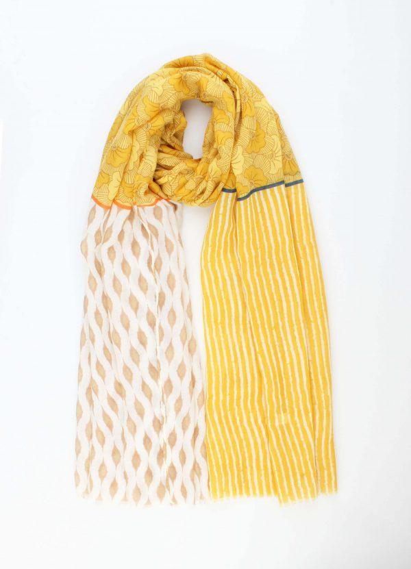 """Sjaal """"Geraldina"""" geel"""