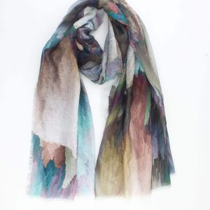 """Sjaal """"Davina"""" multi kleur is een digital geprint sjaal met multi kleur."""