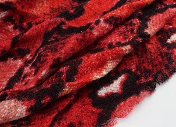 """Sjaal """"Lelie"""" rood -"""