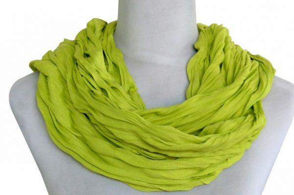 Sjaal Uni Jersey groengeel -