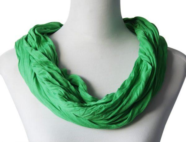 Sjaal Uni Jersey lente groen -