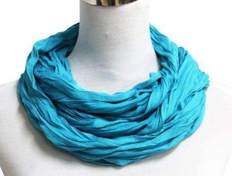 Sjaal Uni Jersey donker Turquoise