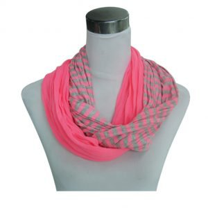 Sjaal Uni Jersey loop rose