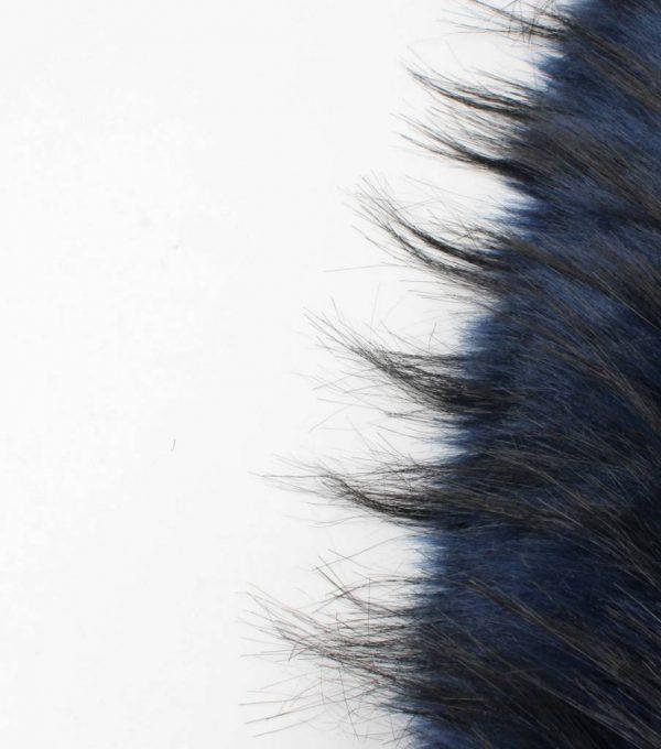 """Skinny sjaal """"Bont"""" blauw -"""