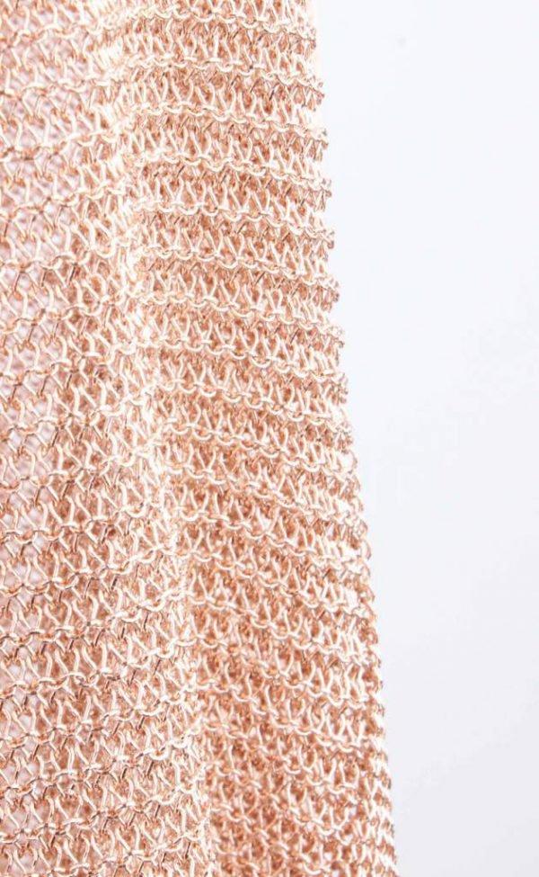 Vest metallic roze -