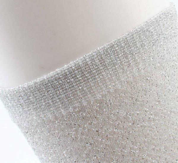 Sokken Lurex grijs -
