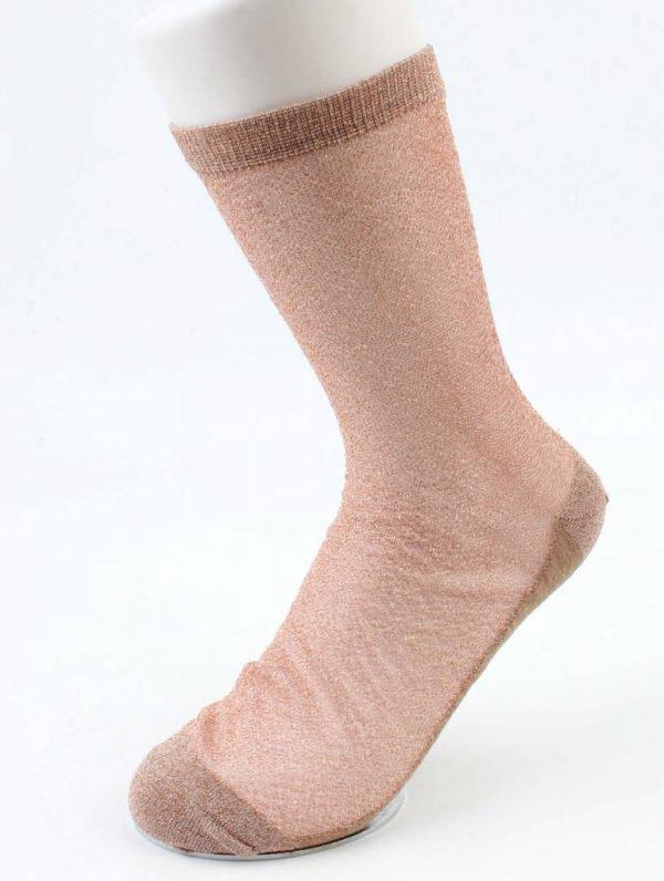 Sokken Lurex rosé -