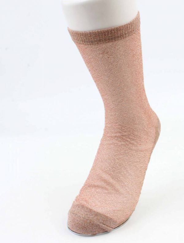 Sokken Lurex rosé