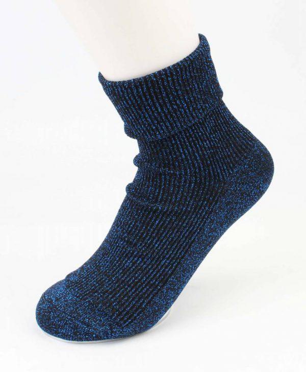 "Sokken ""Uni lurex"" blauw"
