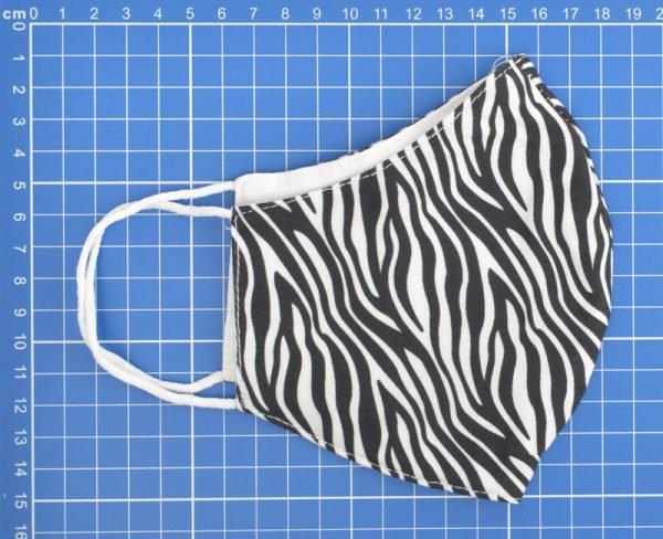 """Mondkapje """"Zebra"""" zwart/wit, per 5st. -"""