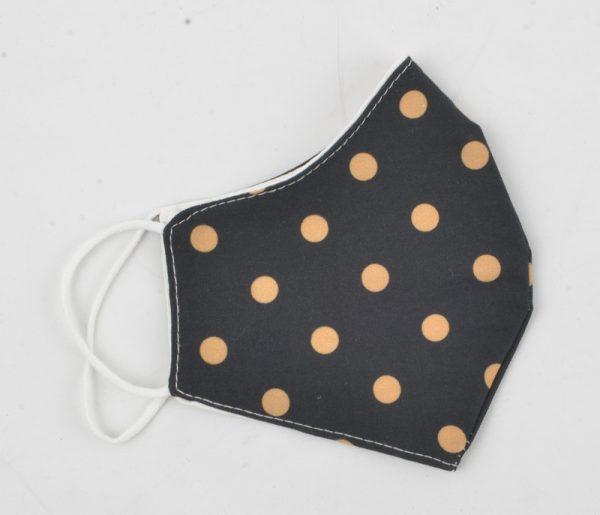 """Mondkapje """"Spots"""" zwart/roest, per 5st. - Indini"""