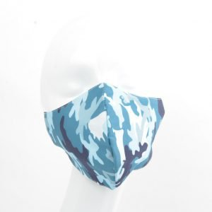 "Mondkapje ""Camouflage"" blauw"