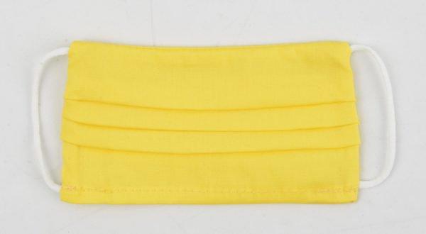 """Mondkapje """"Uni R M"""" geel"""