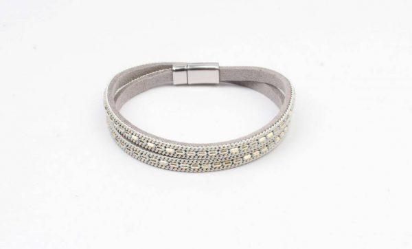 Wikkelarmband metalen kettinkjes grijs (327847)