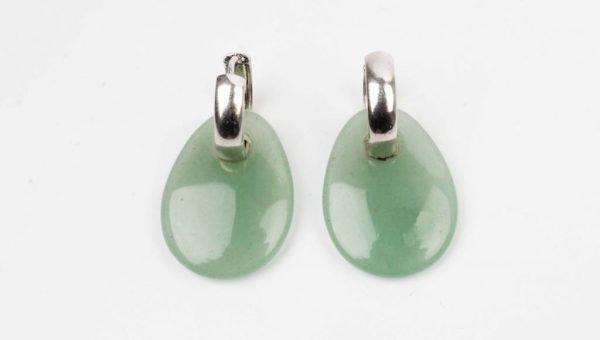 """Oorbel """"Druppel"""" jade (335605)"""