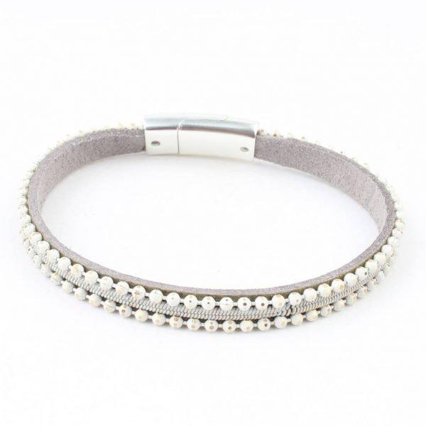 Armband 'metal balls' grijs