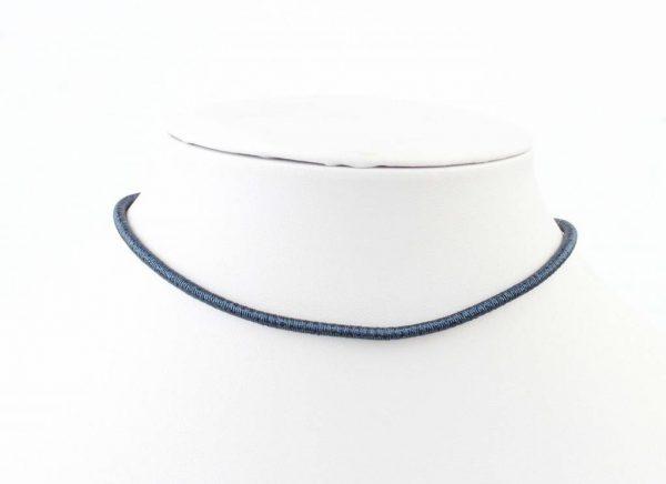 "Wikkelarmband ""Spiraal"" blauw -"