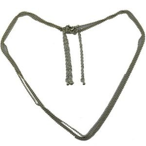Korte Halsketting Grijs - Geraffeld Design - Medium Size
